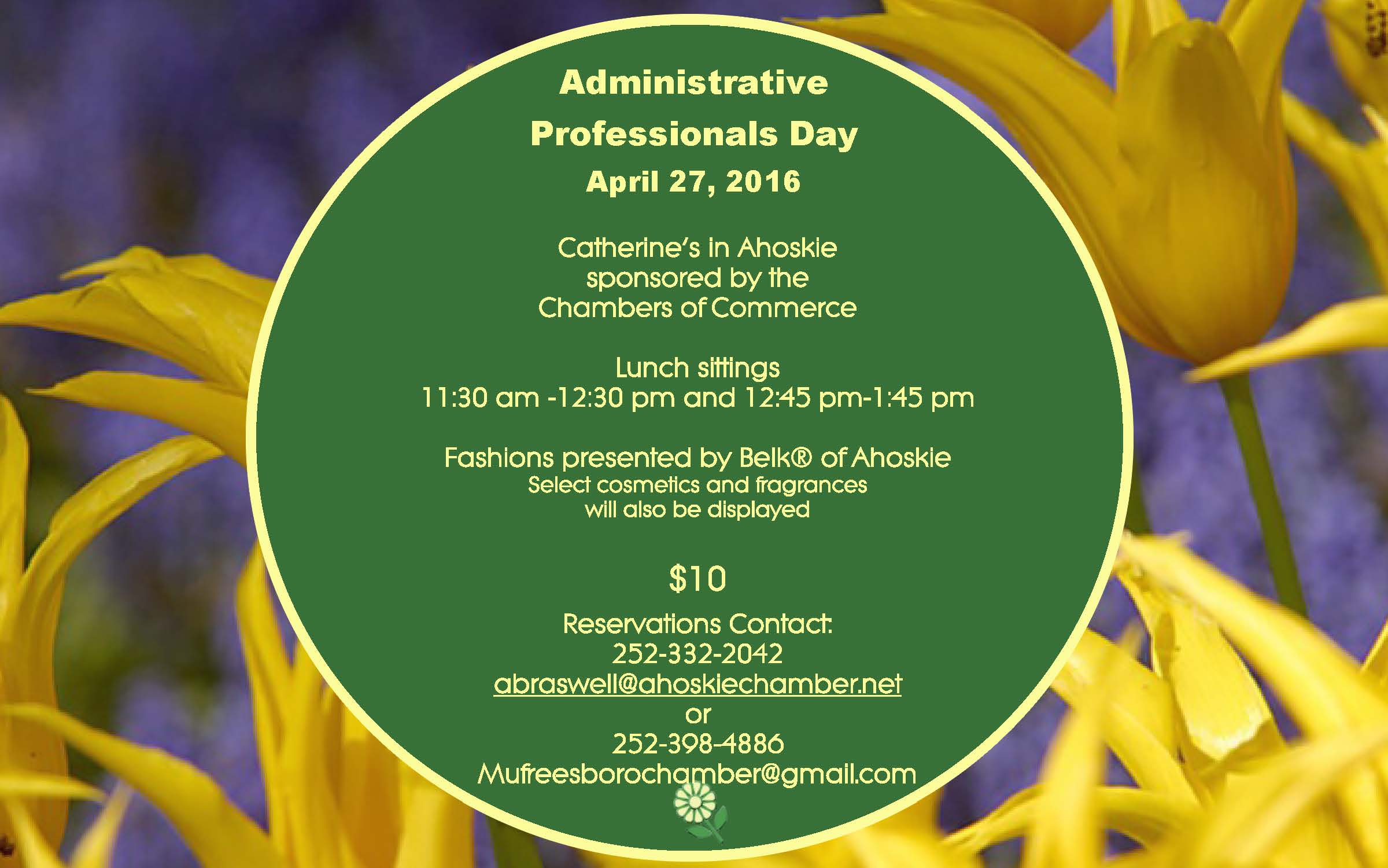 Administrative Professionals Day ~ April 27th!