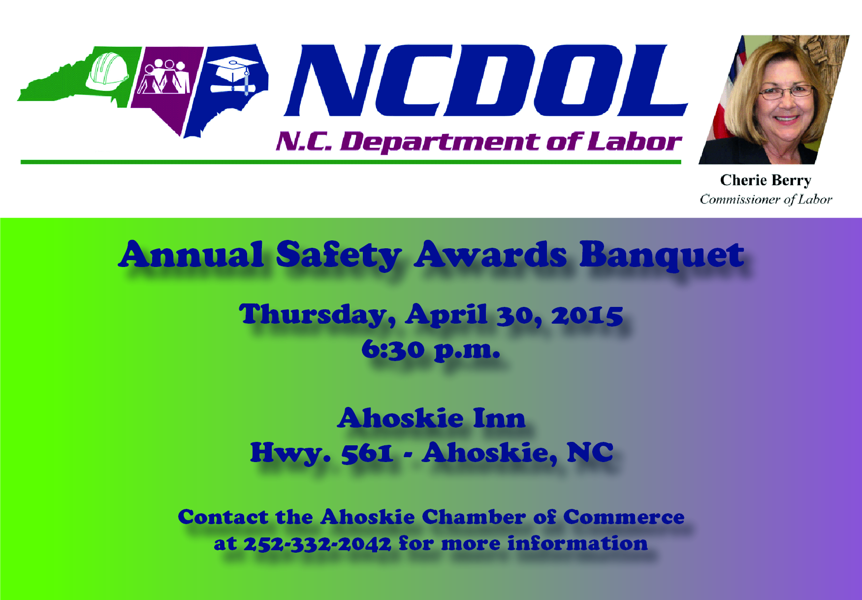Annual Safety Awards - April 30th!