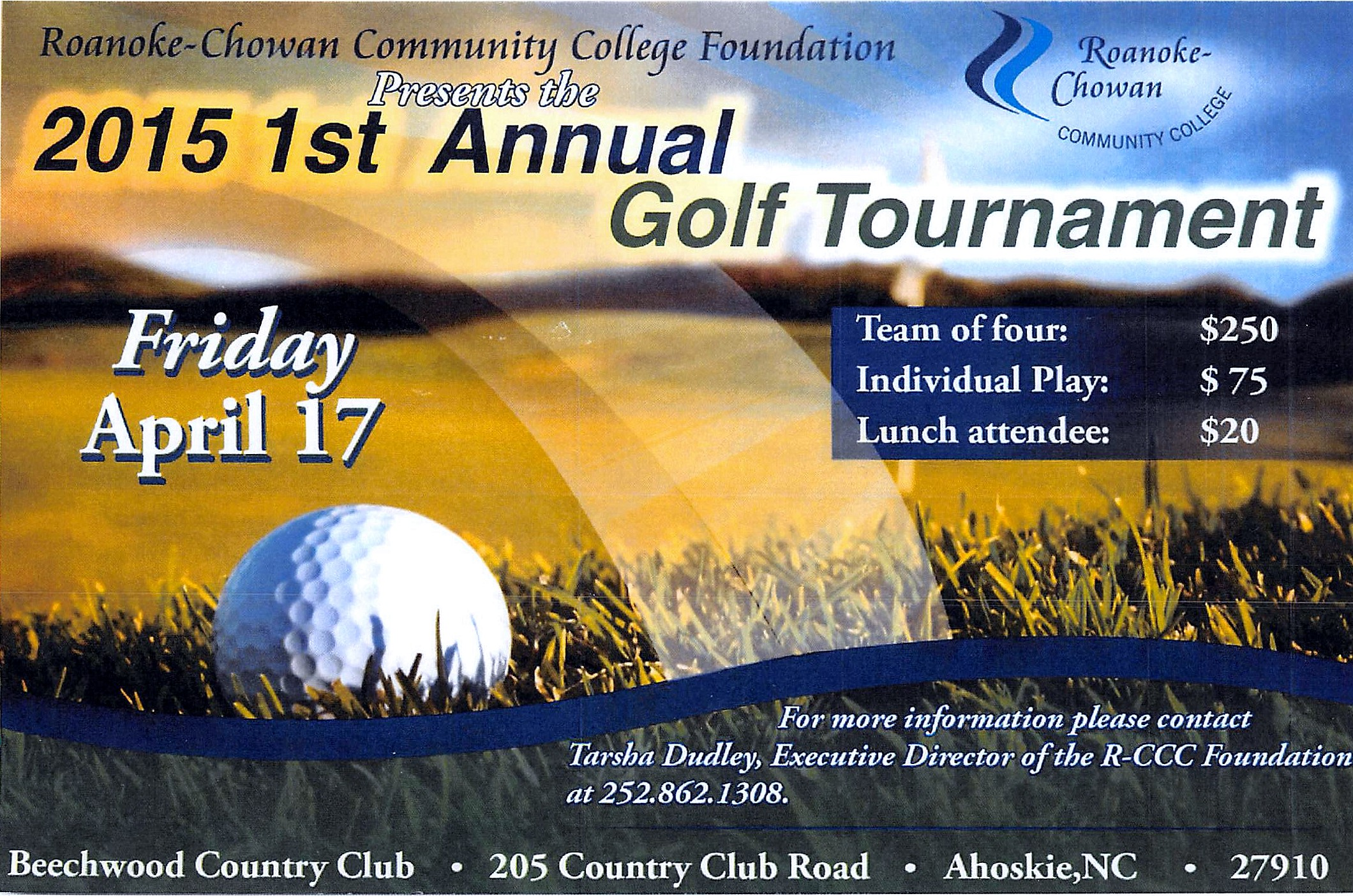RCCC Foundation 1st Annual Golf Tournament - April 17th!