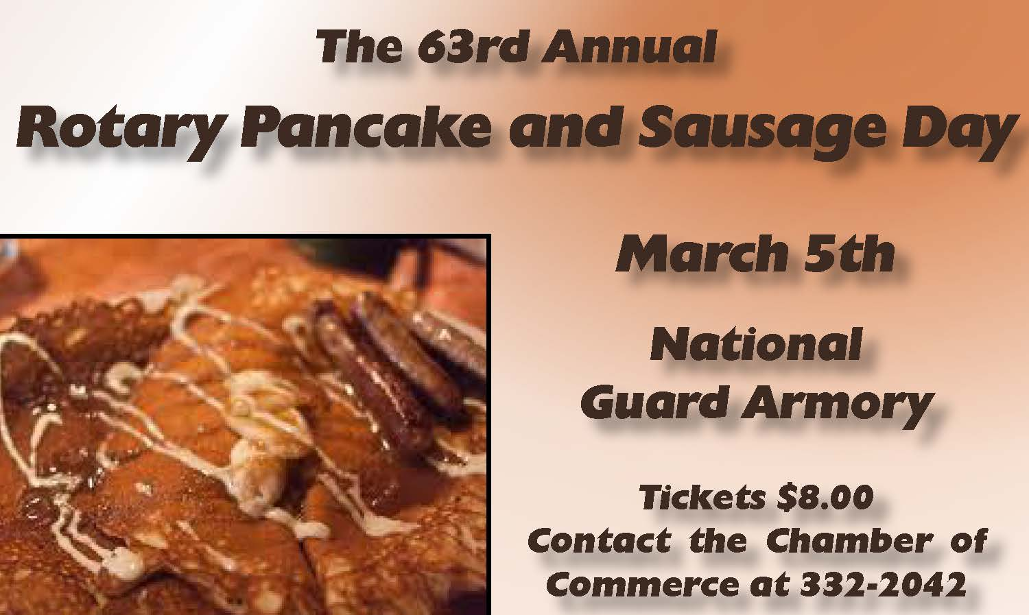 Rotary Pancake and Sausage Day! March 5th!