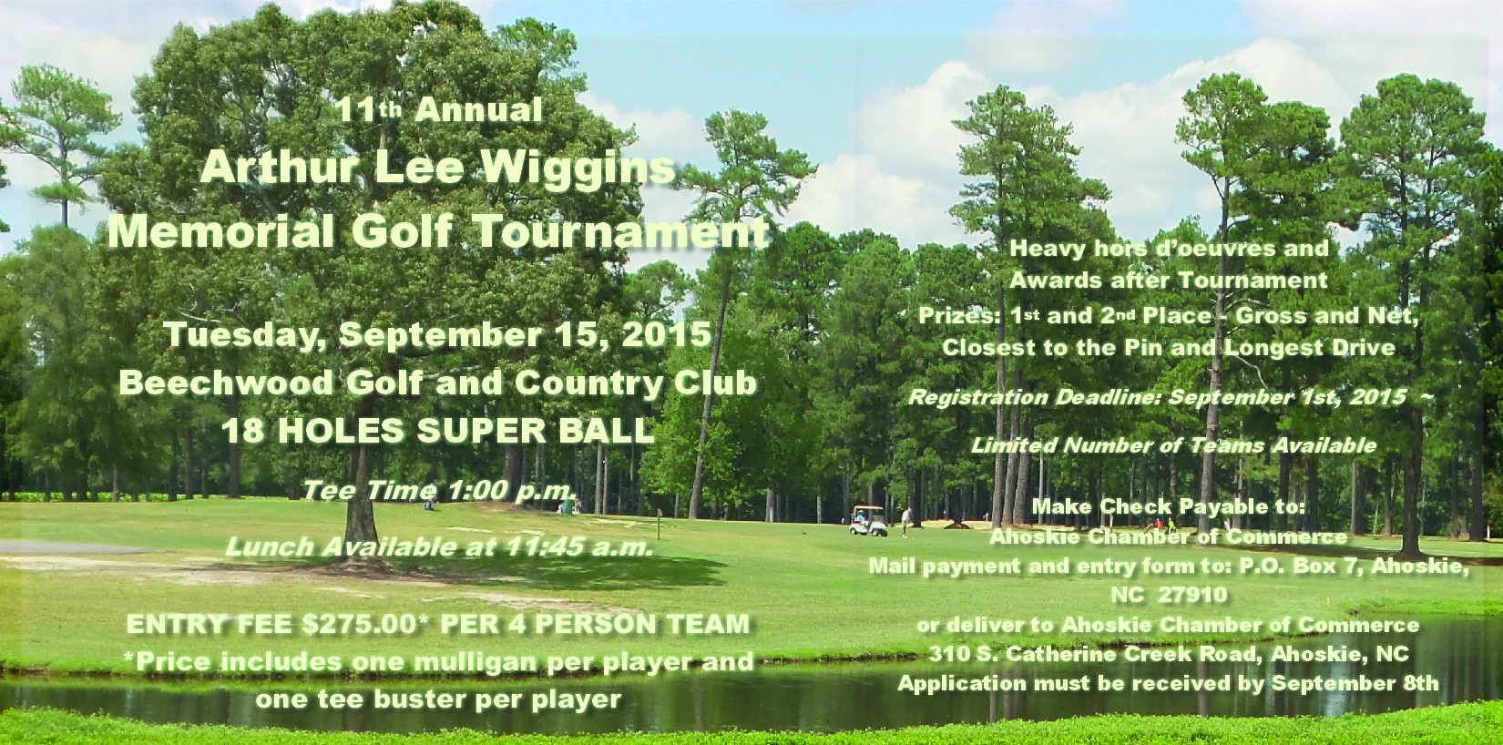 11th Annual Arthur Lee Wiggins Golf Tournament!